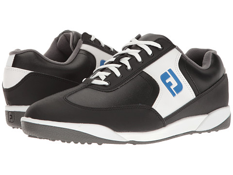 FootJoy Greenjoys Spikeless Retro Court - Black/White/Royal