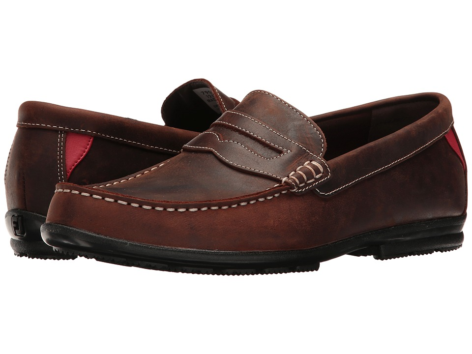 FootJoy Club Casuals Handswen Penny Loafer (Bomber Brown)...