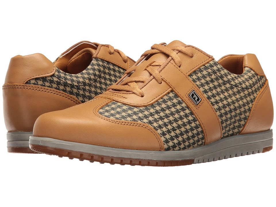 FootJoy Spikeless Casual Collection T-Toe U-Throat (Tan/Tan Houndstooth) Women