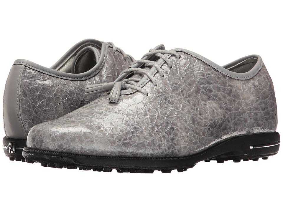 FootJoy Tailored Spikeless U-Throat w/ Tassle (Gray Croc) Women