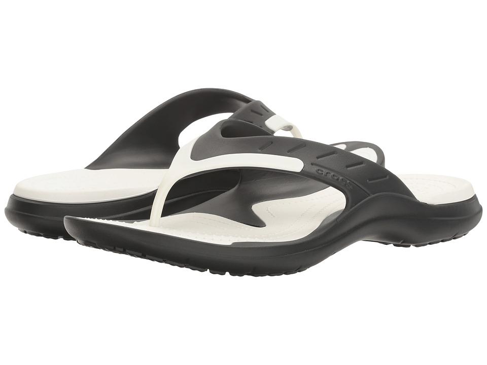 Crocs Modi Sport Flip (Black/White) Men