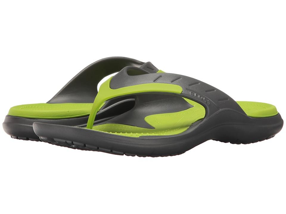 Crocs Modi Sport Flip (Graphite/Volt Green) Men