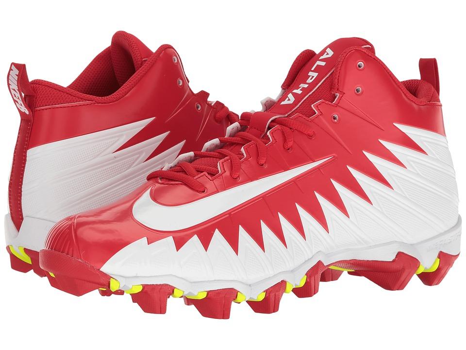 Nike - Alpha Menace Shark (University Red/White/White) Mens Shoes