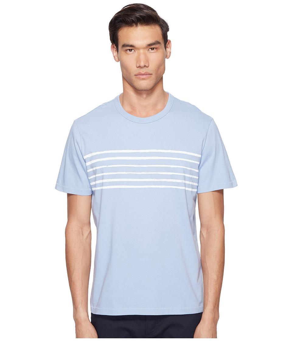 Jack Spade Striped Printed Tee (Pale Blue) Men