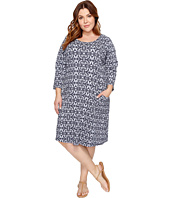 Extra Fresh by Fresh Produce - Plus Size Island Batik Dalia Dress