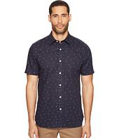 Jack Spade - Slub Print Linen Blend Short Sleeve Shirt