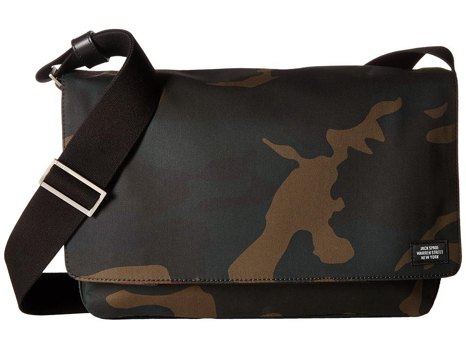 Jack Spade Zip Messenger (Camo) Messenger Bags