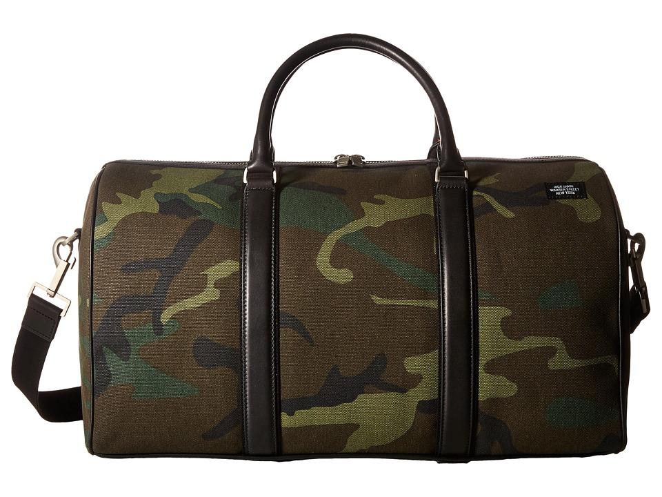 Jack Spade Industrial Canvas Duffel (Camo) Duffel Bags