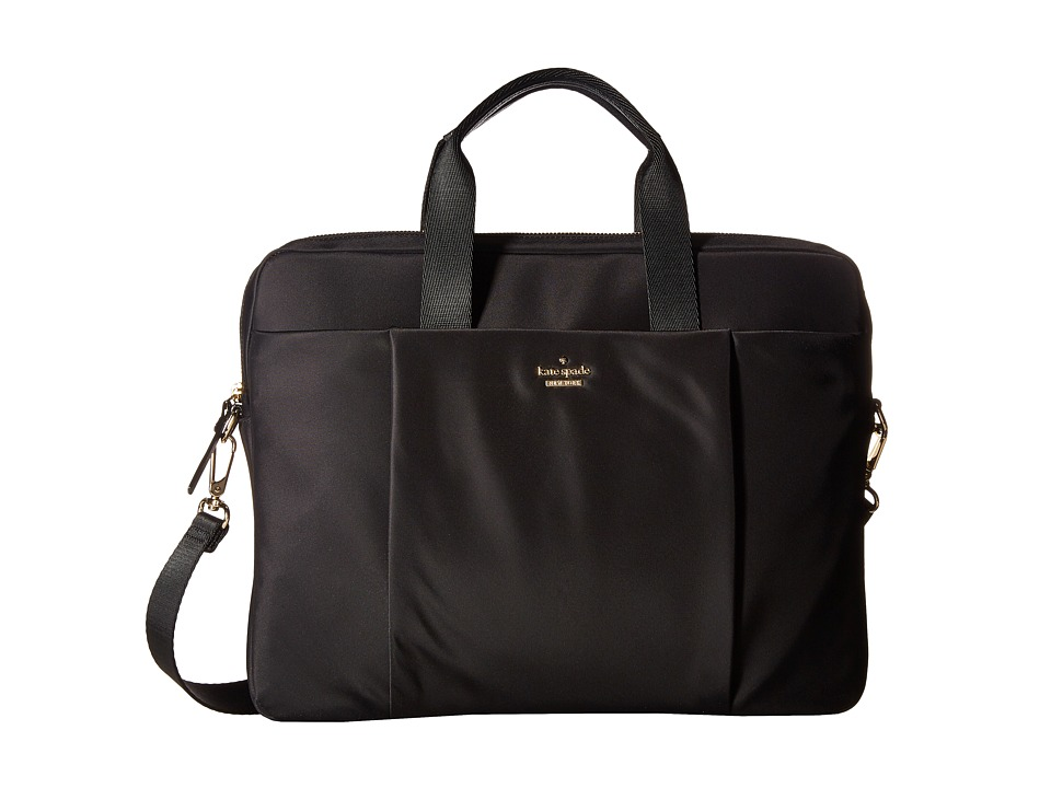 Kate Spade New York Classic Nylon Laptop Commuter Bag Laptop Case (Black) Computer Bags