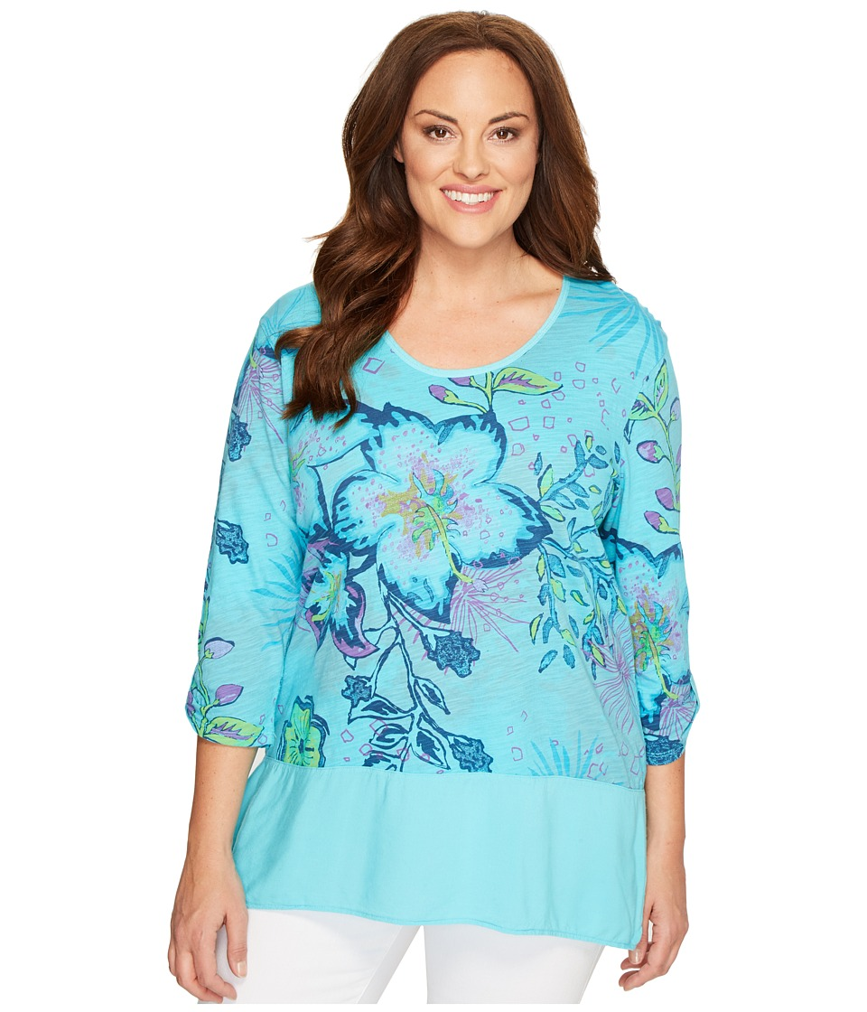 Extra Fresh by Fresh Produce Extra Fresh by Fresh Produce - Plus Size Cabana Bright Windfall Top
