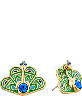 Kate Spade New York - Full Plume Peacock Studs Earrings
