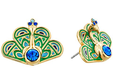 Kate Spade New York Full Plume Peacock Studs Earrings