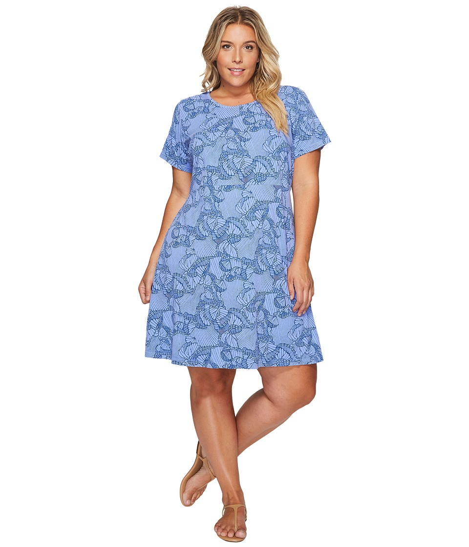 Extra Fresh by Fresh Produce - Plus Size Daybreak Sadie Dress (Periwinkle) Womens Dress
