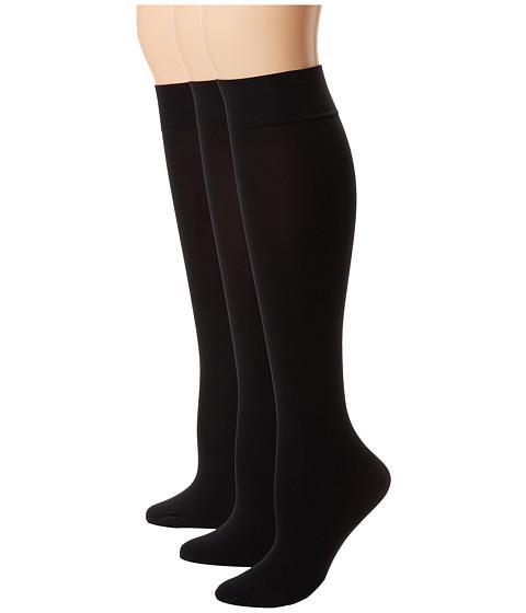 HUE Soft Opaque Knee High 3-Pack - Black
