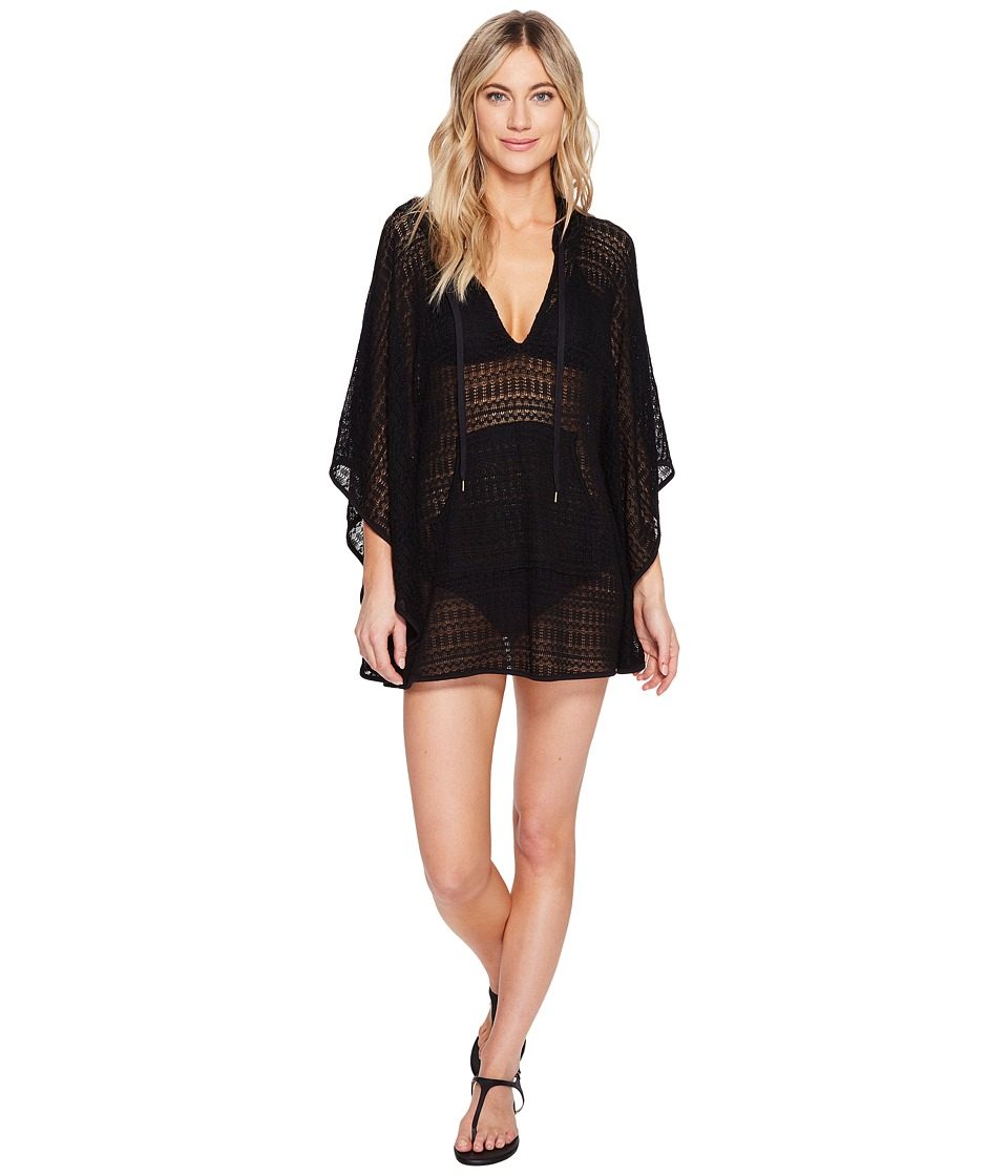 La Blanca Beyond The Beach Hooded Poncho Cover-Up (Black) Women