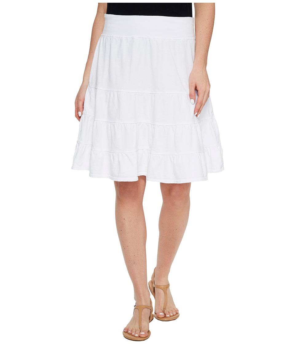 Fresh Produce - Jersey Tiered Skirt (White) Women's Skirt