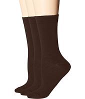HUE - Solid Femme Top Socks 3-Pack