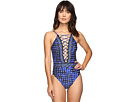 La Blanca - Daily Grind Lace-Up Plunge One-Piece