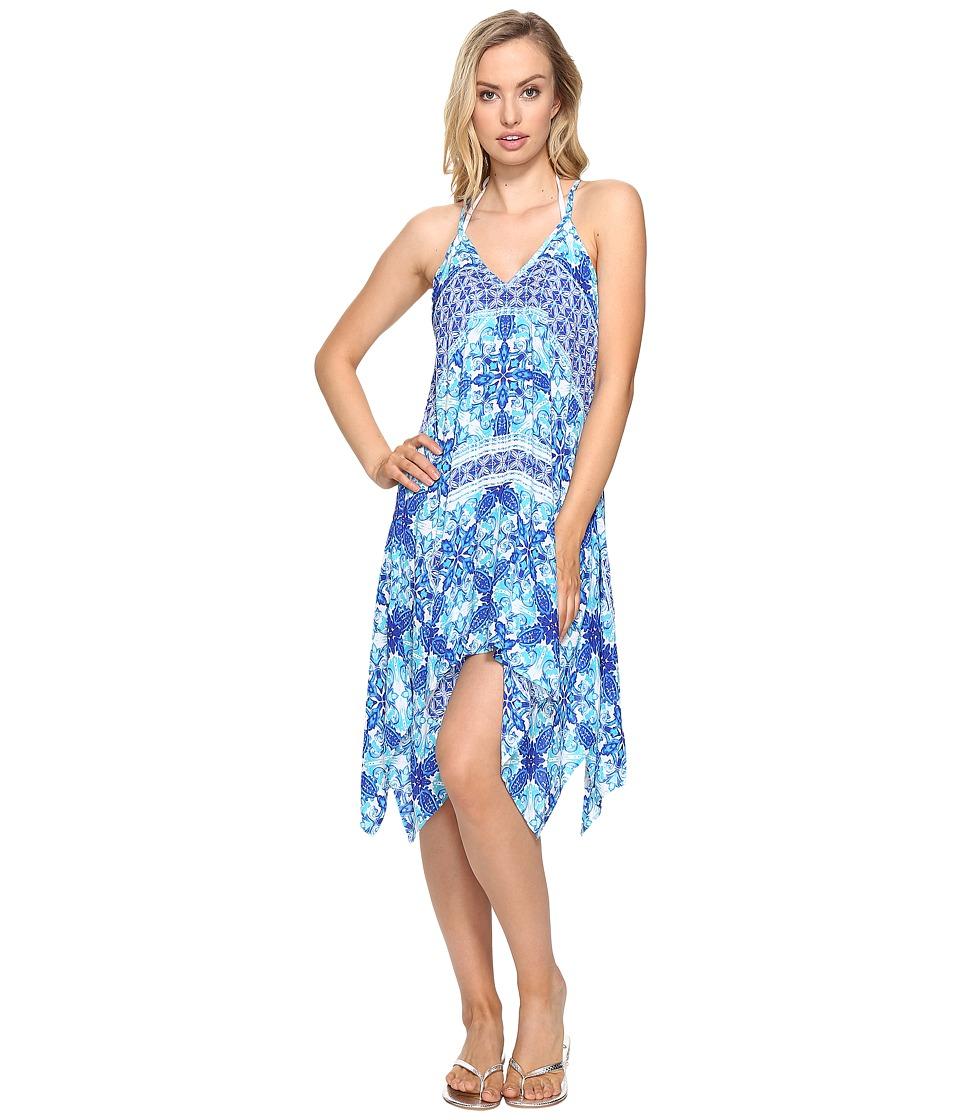 La Blanca True Handkerchief Dress Cover-Up (Crystal Blue) Women