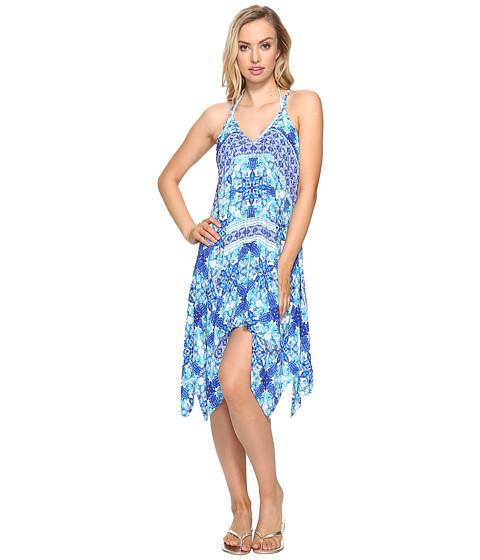 La Blanca - True Handkerchief Dress Cover-Up (Crystal Blue) Women's Swimwear