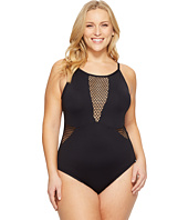 La Blanca - Plus Size All Meshed Up U-Back OTS Mio
