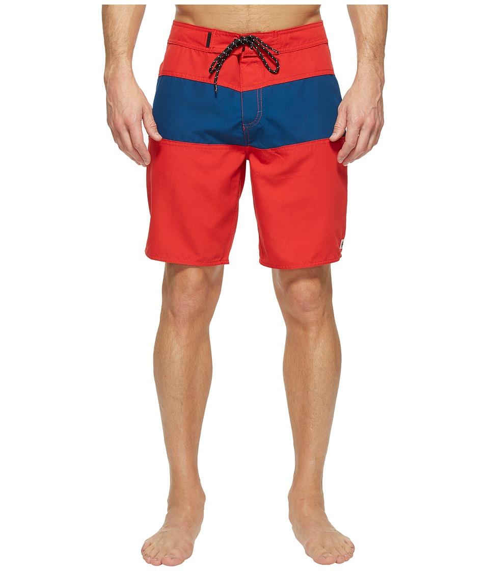Tavik Spectrum Boardshorts (Red/Blue) Men