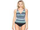 Geo Graphic Stripe C/D Cup Over the Shoulder One-Piece