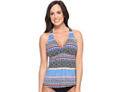 Batik Stripe D/DD H-Back Tankini Top