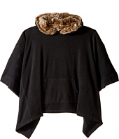 C&C California Kids - Poncho w/ Snap Out Fur Lined Hood (Little Kids/Big Kids)