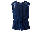 Indigo Baby French Terry Romper w/ Lace (Big Kids)