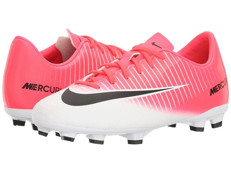 Nike Kids - JR Mercurial Vapor XI FG Soccer (Toddler/Little Kid/Big Kid) (Racer Pink/Black/White) Kids Shoes