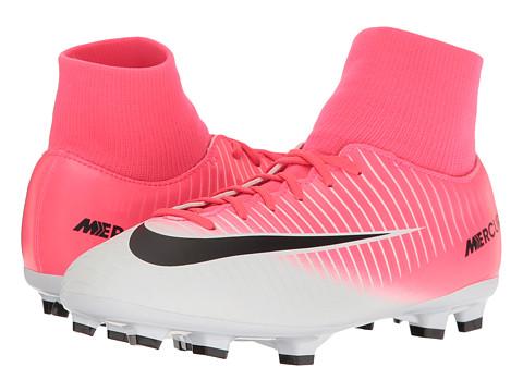 Nike Kids Mercurial Victory VI FG Soccer (Little Kid/Big Kid) - Racer Pink/Black/White