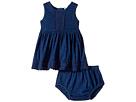 Splendid Littles - Indigo w/ Lace Trim Dress (Infant)