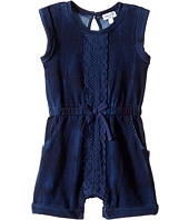 Splendid Littles - Indigo Baby French Terry Romper w/ Lace (Infant)