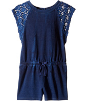 Splendid Littles - Indigo Baby French Terry Romper w/ Lace (Toddler)