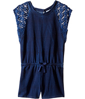 Splendid Littles - Indigo Baby French Terry Romper w/ Lace (Little Kids)