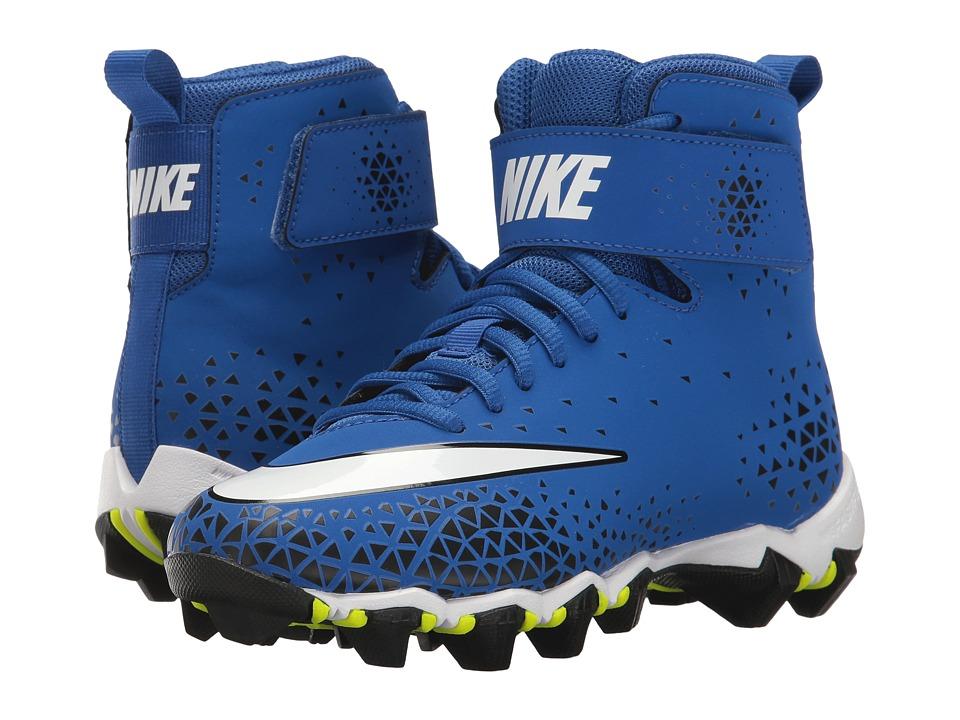 Nike Kids Force Savage Shark Football (Toddler/Little Kid/Big Kid) (Game Royal/White/Black) Kids Shoes