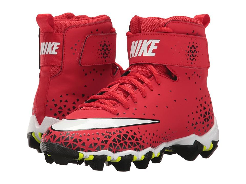 Nike Kids Force Savage Shark Football (Toddler/Little Kid/Big Kid) (University Red/White/Black) Kids Shoes