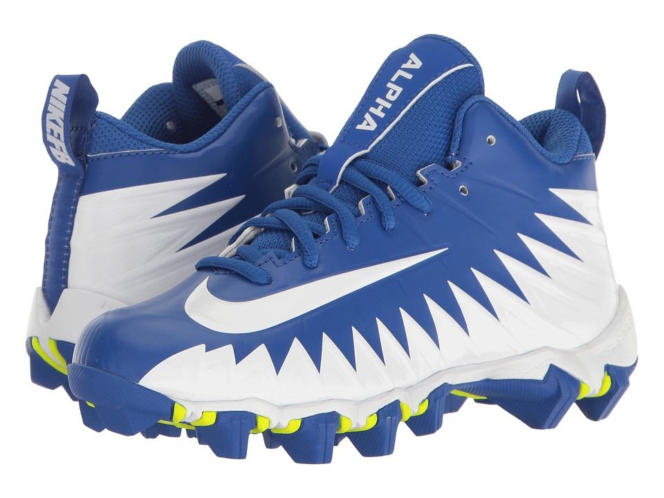 Nike Kids Alpha Menace Shark Football (Toddler/Little Kid/Big Kid) (Game Royal/White/Collegiate Navy) Kids Shoes