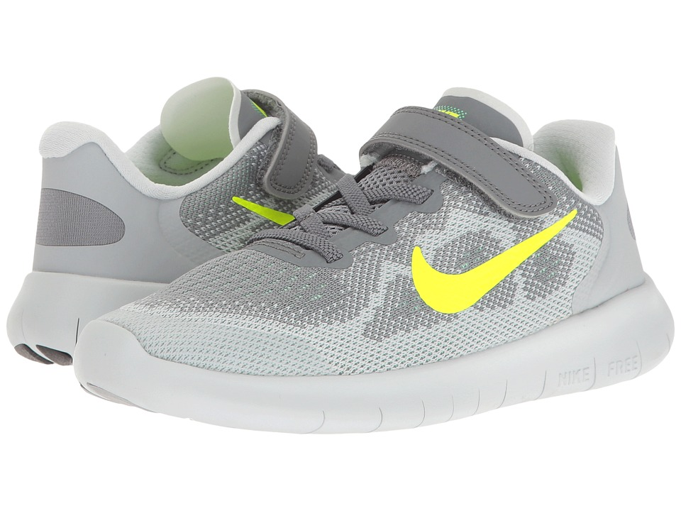 Nike Kids Free RN 2017 (Little Kid) (Cool Grey/Volt/Wolf Grey/Electro Green) Boys Shoes