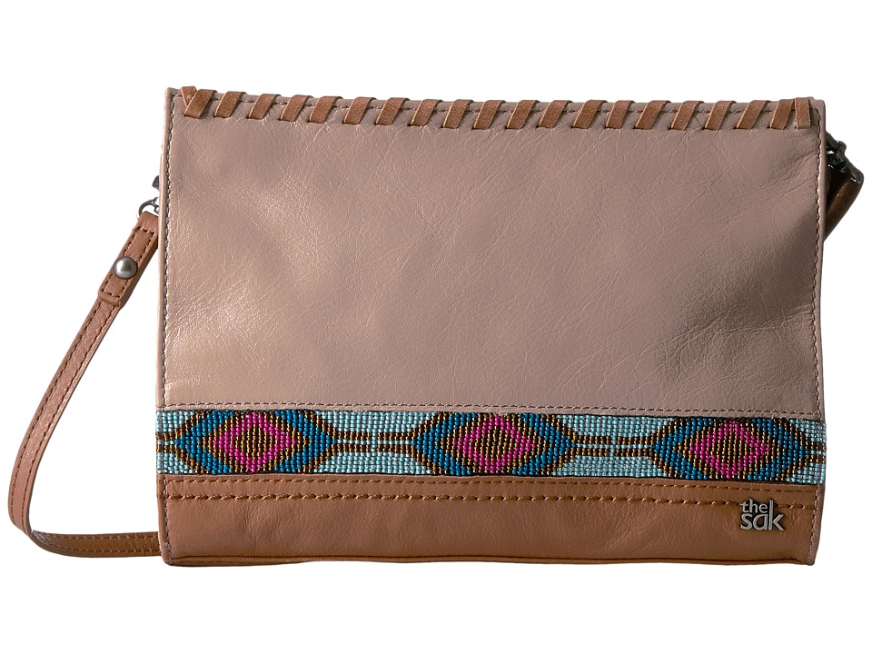 The Sak Iris Demi Clutch (Mocha Beaded) Clutch Handbags