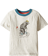 Lucky Brand Kids - Raglan Tee w/ Bicycle Bear Screen Print (Toddler)
