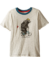 Lucky Brand Kids - Raglan Tee w/ Bicycle Bear Screen Print (Little Kids/Big Kids)