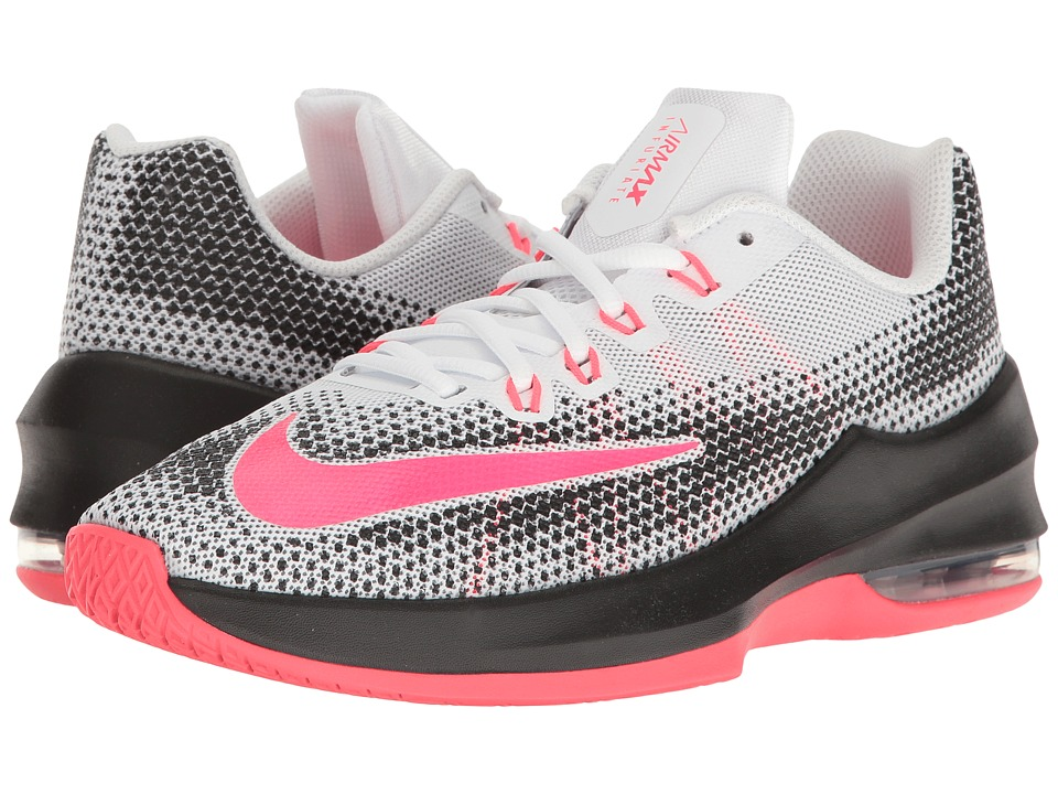 Nike Kids Air Max Infuriate Basketball (Big Kid) (White/Racer Pink/Black/Wolf Grey) Girls Shoes