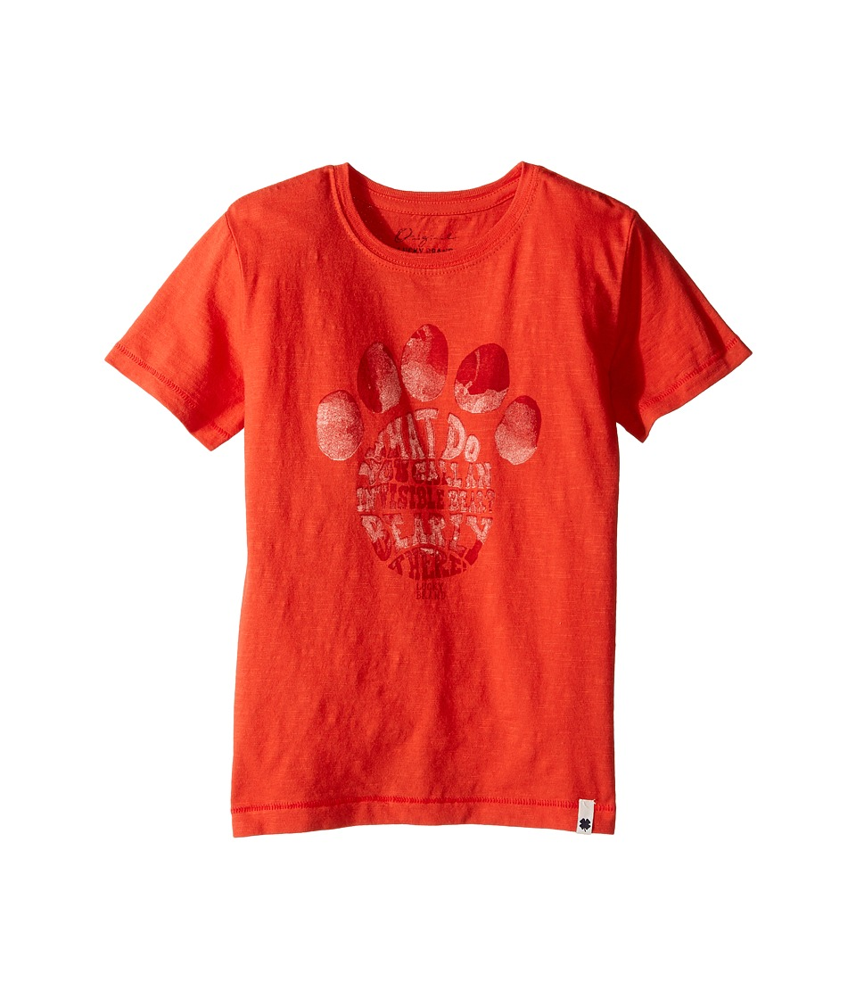 Lucky Brand Kids Paw Print Tee (Little Kids/Big Kids) (Red Clay) Boy