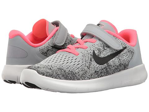 Nike Kids Free RN 2 (Little Kid) - Wolf Grey/Black/Racer Pink/White