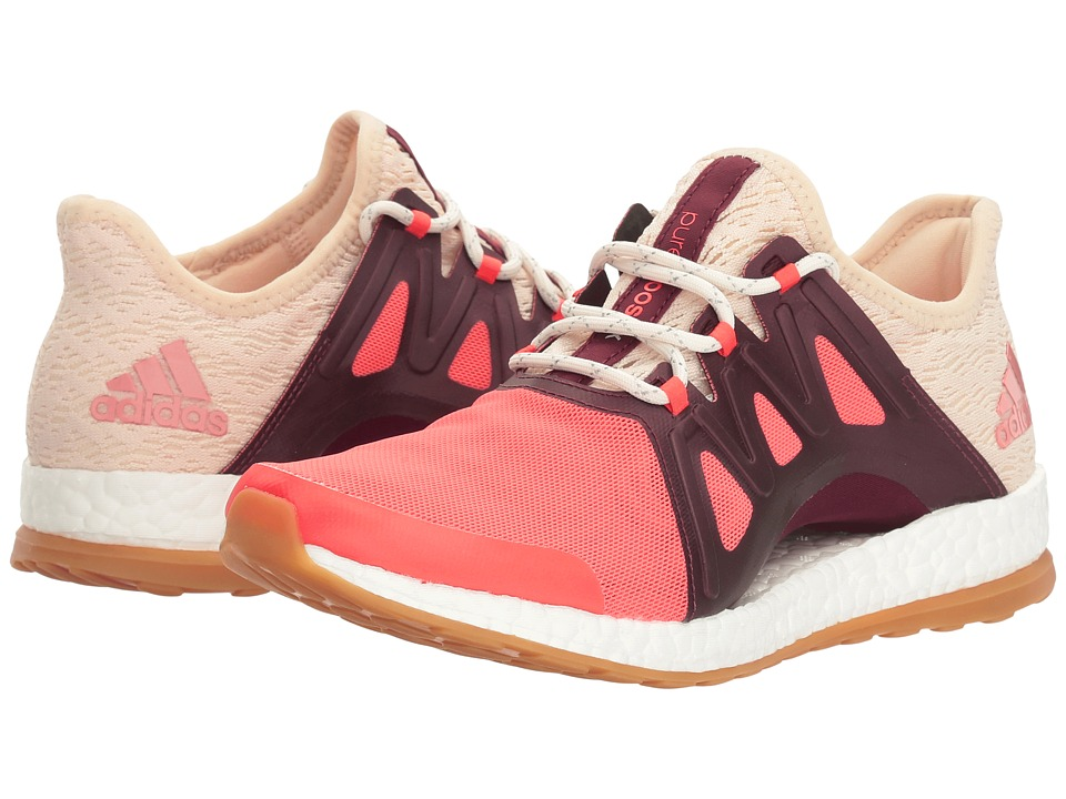 adidas Running PureBOOST Xpose Clima (Easy Coral/Linen/Maroon) Women