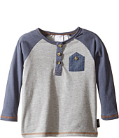 Kardashian Kids - Raglan Henley Tee with Chambray Front Pocket (Infant)