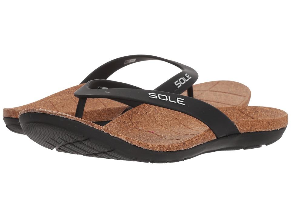SOLE Beach Flips (Panda/Black) Sandals