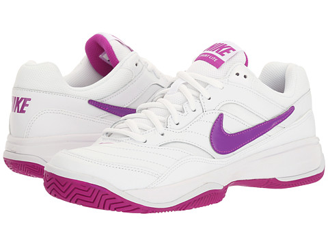 Nike Court Lite - White/Vivid Purple/White